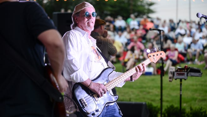 Dave Mallard plays for the Little Boys Blue band at the Amphitheater in downtown Jackson in this June 2015 file photo.