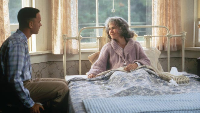 """Tom Hanks and Sally Field in """"Forrest Gump,"""" talking about that box of chocolates."""
