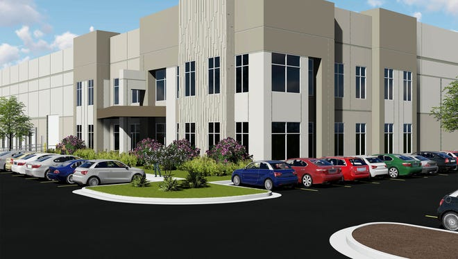 Rendering of the buildings Hillwood, a Perot company, plans at Airport Business Park in Smyrna.