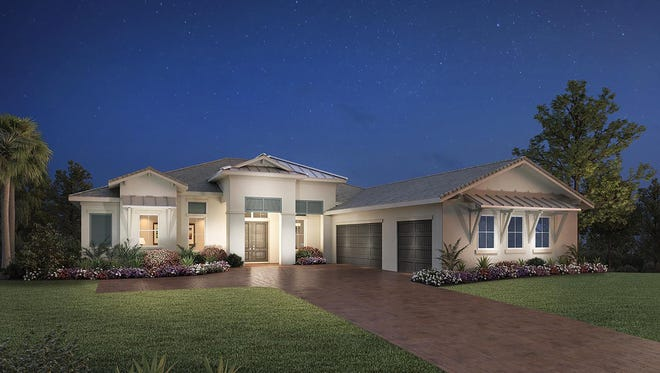 The Sandpiper home design offered at Azure at Hacienda Lakes.