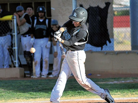 Jaime Guzman/For the Sun-News   Dante Anaya and the Oñate baseball team is 22-3 and the No. 1 seed in the Class 6A baseball tournament. The Knights host No. 16 Cibola for a best of three first round series this weekend.