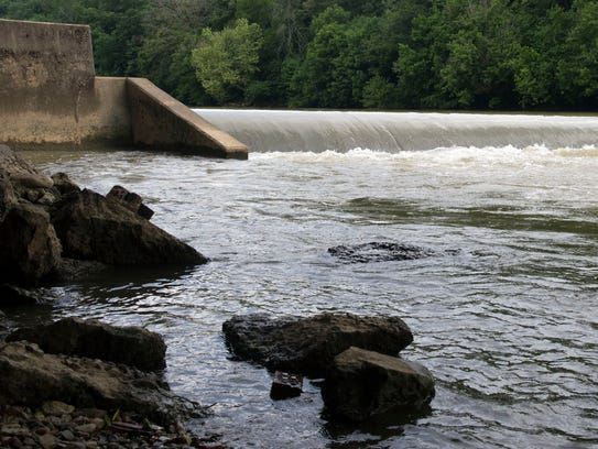 The Old Enka Dam on the Nolichucky River.
