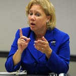 Senator Mary Landrieu speaks to members of the editorial board at The Times.