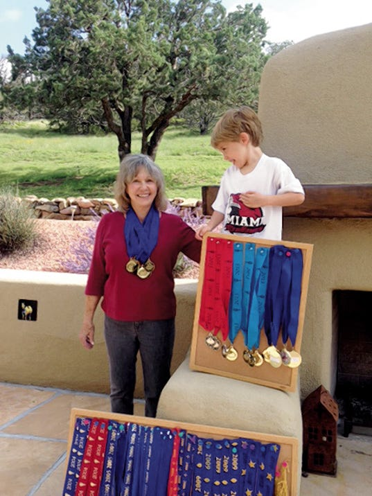 Ruidoso resident June Hence is a seven-time gold medalist in the New Mexico Senior Olympics.