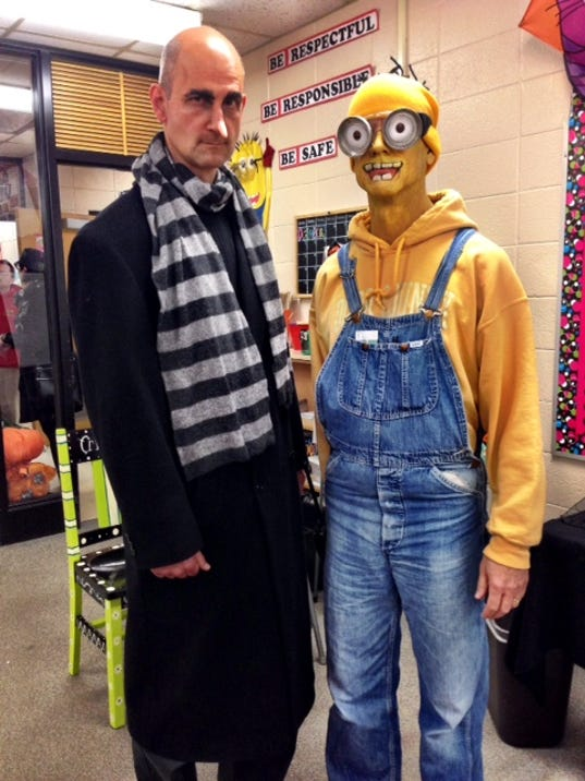 Mike Mockert as Gru and John Matysik, as his Minion.JPG