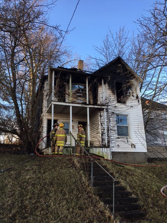 Fire Destroys Vacant House On East First Street
