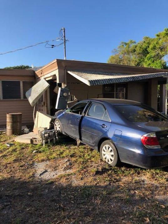 FORT PIERCE — A woman was hospitalized after crashing her car into a house early Thursday. The woman sustained non-life-threatening injuries, St. Lucie Fire ...