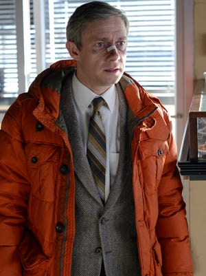 Martin Freeman mixes his downtrodden character Lester's frustration, fear and regret with flashes of relief.