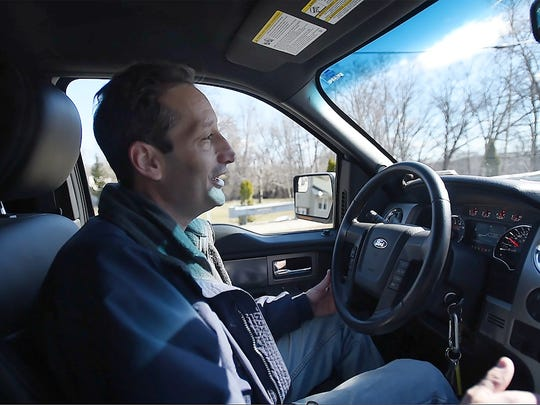 Joseph Wall, a Meals On Wheels driver for 26 years, drives as he heads to his first senior to deliver a meal in Totowa on March 22st, 2017.