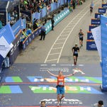 Morgan Scoville runs in the 45th TCS NYC Marathon Sunday, Nov. 1. He finished 232nd out of 50,000 runners.