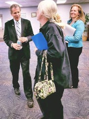 U.S. Senator Sherrod Brown meets Fremont resident Barbara