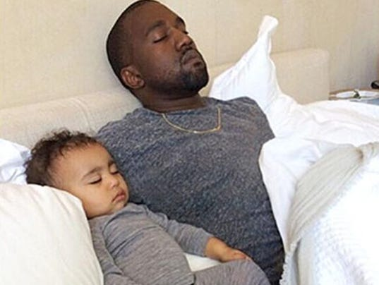 Kanye West and North (c) Instagram