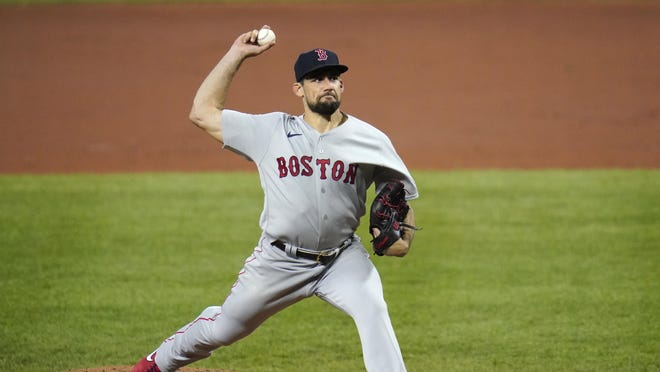 Nathan Eovaldi hasn't pitched since this game in Baltimore on Aug. 20, but don't expect to see the Red Sox ace this weekend against the Blue Jays.