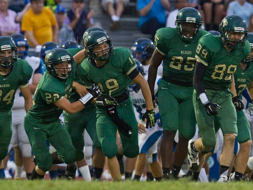 Donovan Catholic vs Pinelands Regional football. Tuckerton, NJ Thursday, September 3, 2015 @dhoodhood