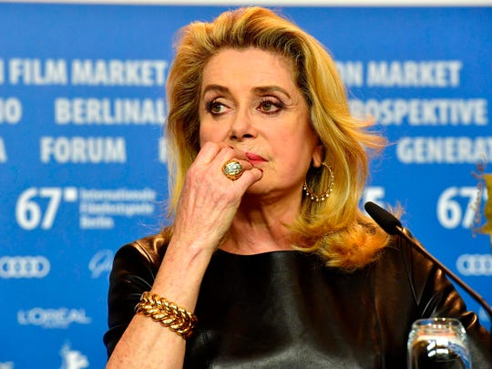 Catherine Deneuve at press conference for the film