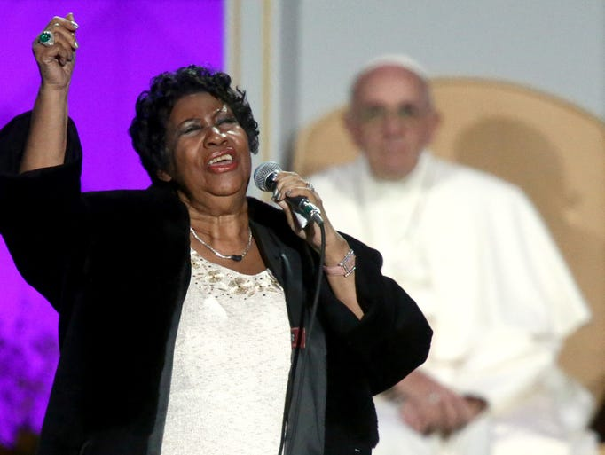 Aretha Franklin performs at the Festival of Families