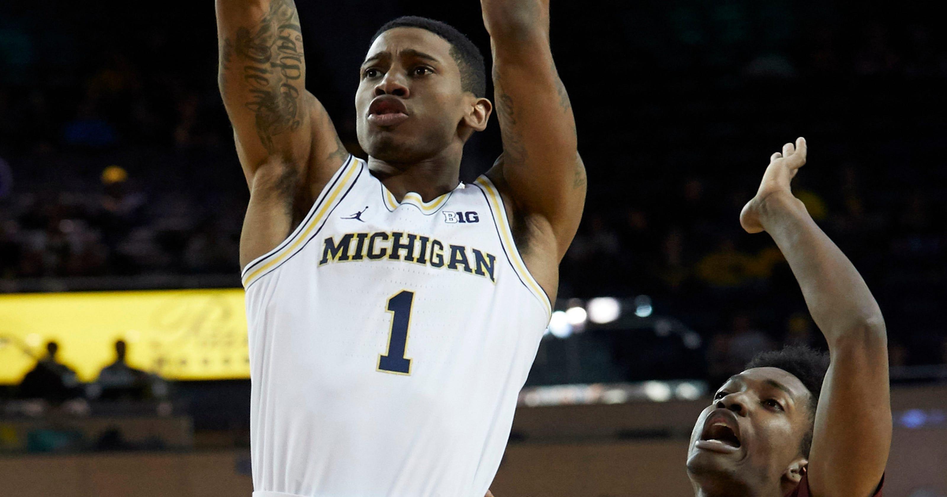 Michigan's Charles Matthews warming up as Big Ten play