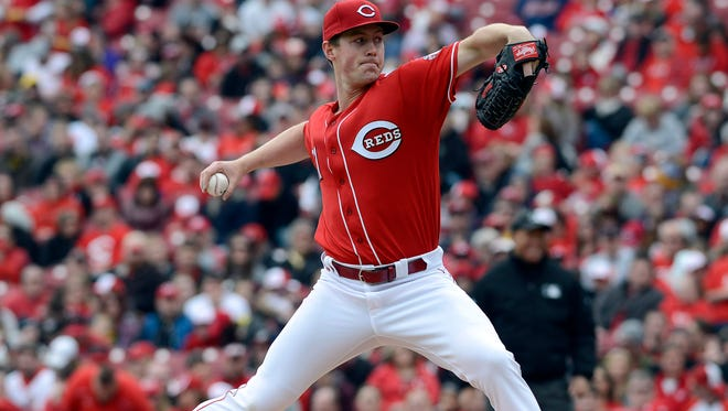 Cincinnati Reds starting pitcher Tim Melville throws against the Pittsburgh Pirates during the second inning at Great American Ball Park on Sunday.