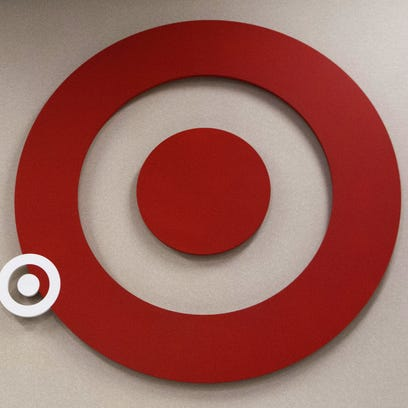 The sign inside of a Target store