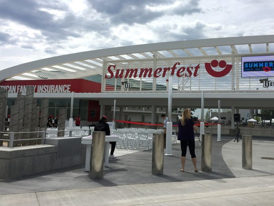 After nearly a year of construction, the new North Entry Gate and Community Plaza are finally open for Summerfest 2018.