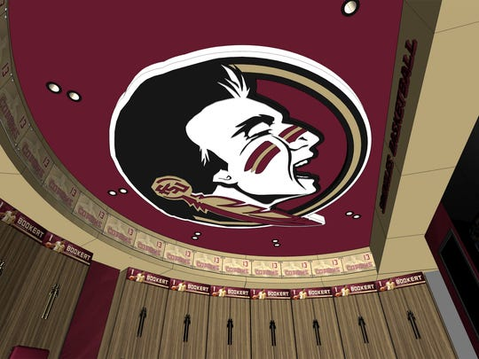 A Seminoles logo will grace the ceilings of the new FSU men's and women's basketball locker rooms in the Donald L. Tucker Center, expected to be completed in December 2016.