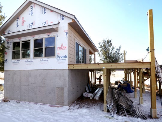 The Tree House, an handicap accessible building with decks up in the trees is under construction at Zachariah's Acres, an outdoor recreation and nature destination designed for kids with special needs and their families at N74 W35911 Servants' Way in the town of Oconomowoc.