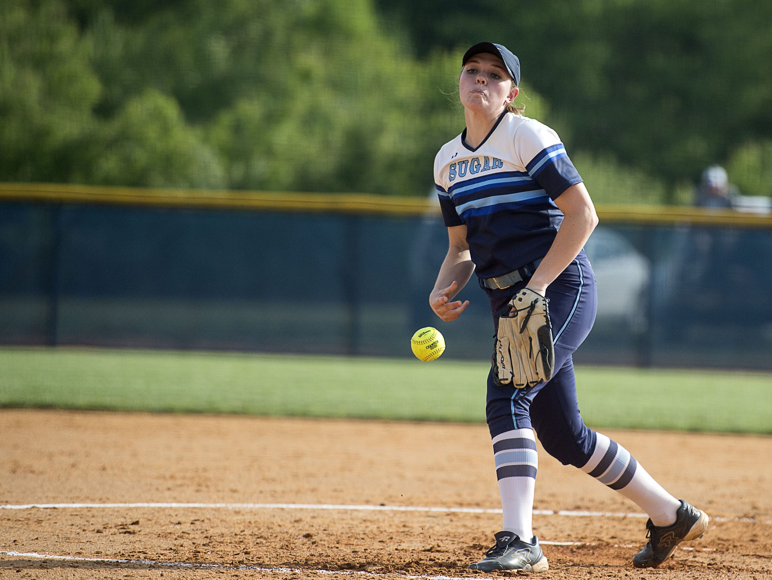 Courtney Pearson pitched Enka to a 13-1 win in Saturday's second round of the NCHSAA 3-A softball playoffs in Candler.