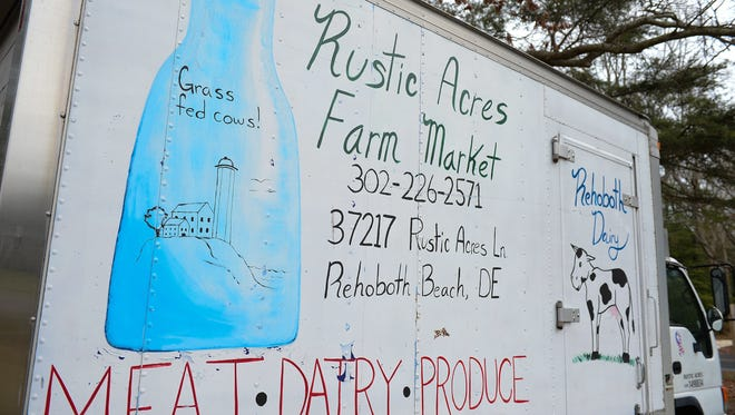 Rustic Acres Farm Market, located in Rehoboth Beach bottles fresh off the farm milk.