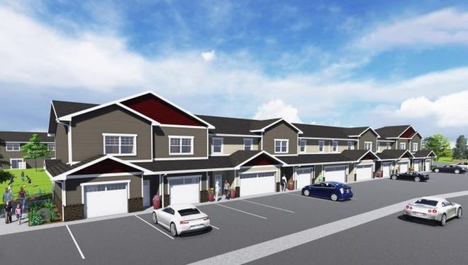 Lloyd Companies' Dublin Square apartments are under construction in the Dawley Farm area on the east side.