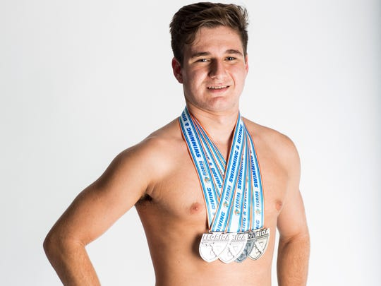 2016 Fall Player of the Year finalist Jack Scanlon, Naples High School swimming