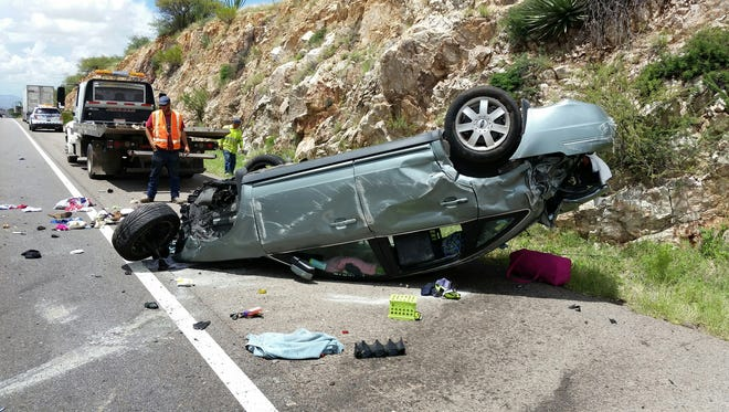 A rollover crash along Interstate 10 in Cochise County captured by a commercial truck driver shows the danger of tailgating, the Arizona Department of Public Safety says.