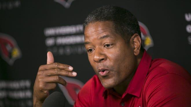 Cardinals coach Steve Wilks was a banker before he got his first college coaching job at Johnson C.