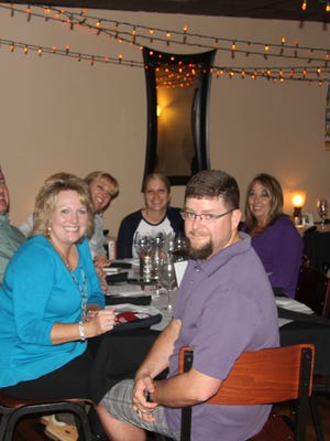 County Commissioner Susan Crockett and her husband Jason Crockett with friends at the 2015 Progressive Dinner Fundraiser.