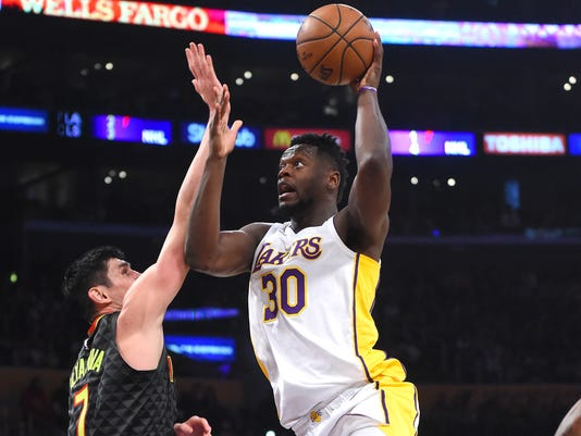NBA: Atlanta Hawks at Los Angeles Lakers