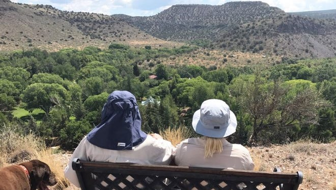 Meghan McCain tweeted this photo, which she says was taken on a hike with her dad, U.S. Sen. John McCain, on Saturday morning. McCain, R-Ariz., was recently diagnosed with brain cancer.