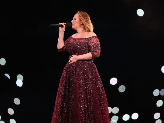 Adele performs at Etihad Stadium on March 18, 2017