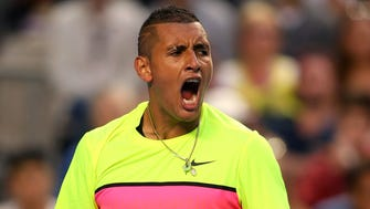 MELBOURNE, AUSTRALIA - JANUARY 25:  Nick Kyrgios of Australia on his way to defeating Andreas Seppi of Italy in their  fourth round match during day seven of the 2015 Australian Open at Melbourne Park on January 25, 2015 in Melbourne, Australia.  (Photo by Patrick Scala/Getty Images) ORG XMIT: 511979437 ORIG FILE ID: 462134846