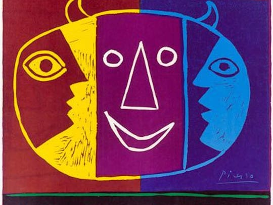 """""""Vallauris,"""" 1956 poster by Pablo Picasso. The poster"""