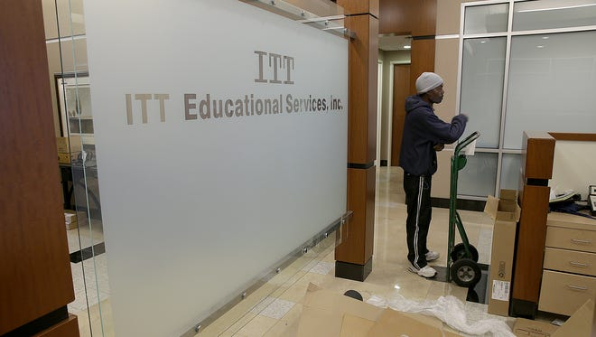 Shuttered ITT Tech auctioned the office furniture and equipment from its Carmel headquarters after the company went out of business.