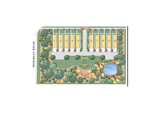 Site plan of Glenview Place.