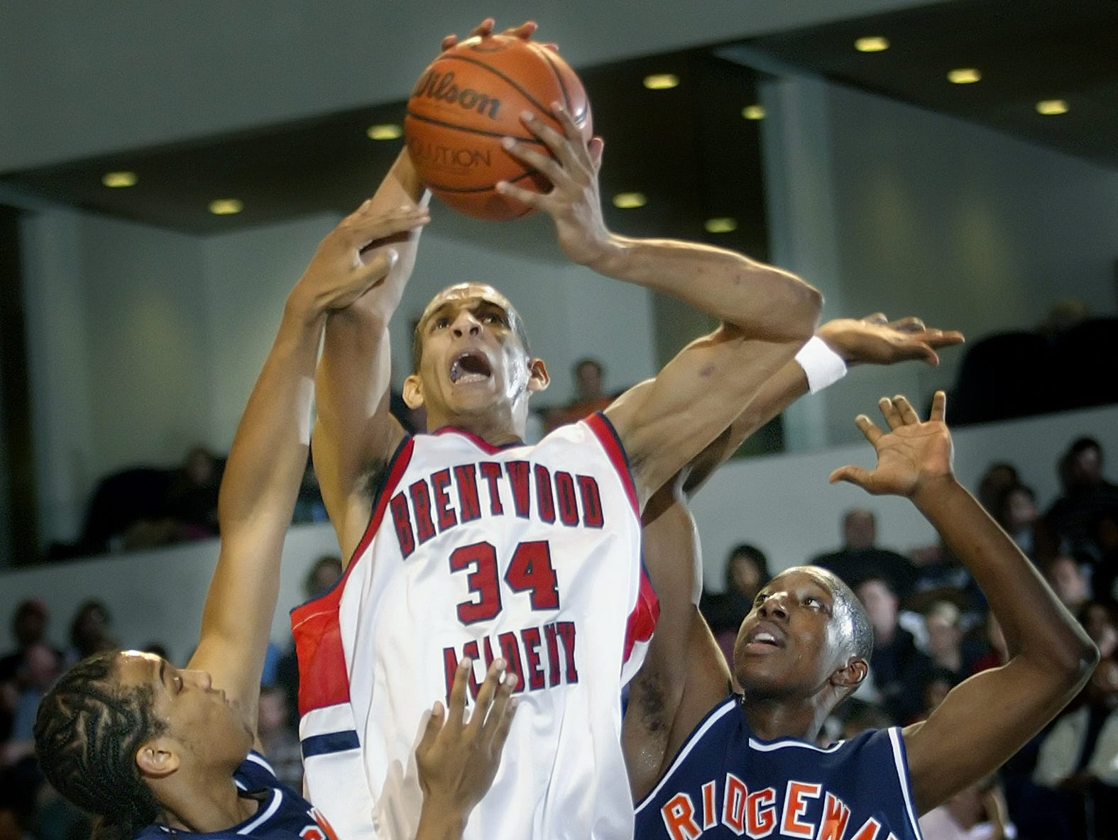 Brandan Wright (34) led Brentwood Academy to four straight state titles from 2003 to 2006