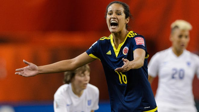 Colombia's Lady Andrade made bold statements to the news media about tonight's Women's World Cup game.