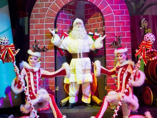 """Santa stops by in """"Cirque Dreams Holidaze"""""""