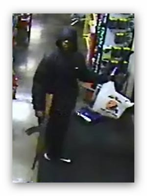 Mequon police are searching for an armed robbery suspect on Tuesday, Sept. 20.