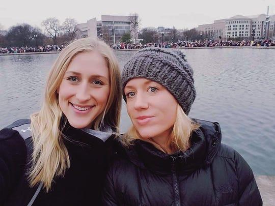Elizabeth Cunningham (left) and her sister Jill Mitra
