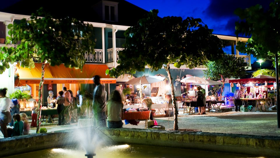 Orient Bay in St. Martin has a lively nightlife.