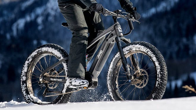 E-bikes can run on electric power as well as by pedaling.