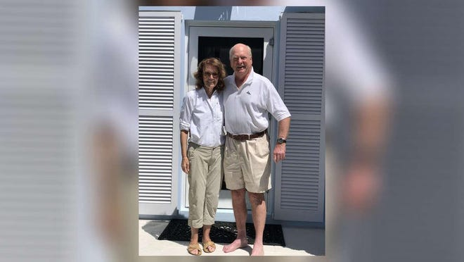 Susan and Brad Gary were all smiles Tuesday at their North End home after finally being able to return home from a cruise where they were quarantined for 10 days.