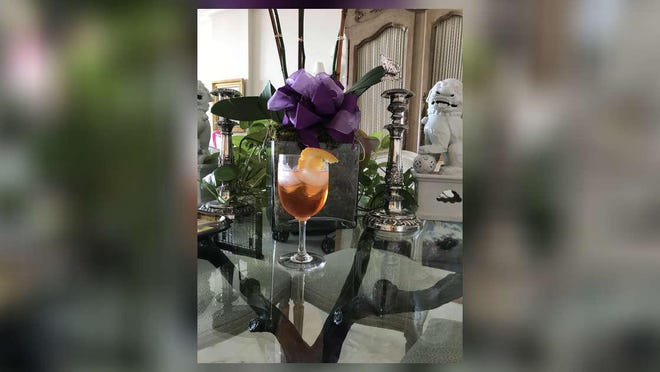 Gail Worth made this Aperol Spritzer with Moet Champagne.