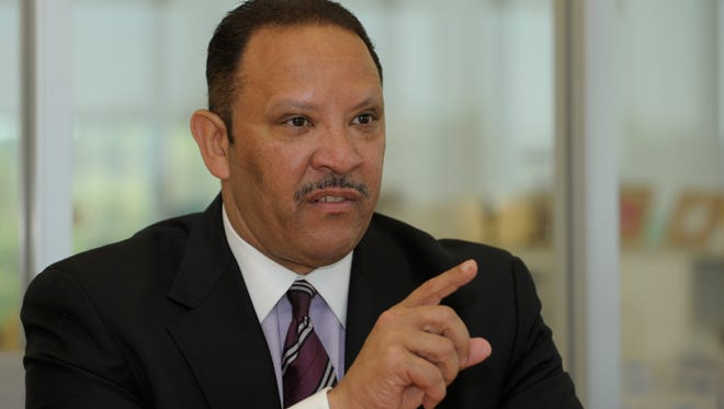 Marc Morial, president and CEO of the National Urban League, meets with the USA TODAY editorial board in McLean, Va.